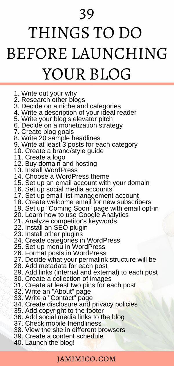 39 Things To Do Before Launching Your Blog | before starting a blog | launch a blog | start a blog | blog launch tips | how to start a blog | blogging tips | everything to do for a blog