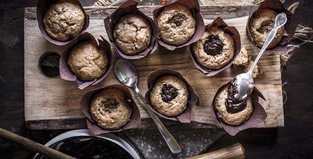 Leckere Cupcakes mit cremiger Ganache-Füllung