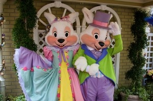 Meet Mr. and Mrs. Bunny at the Magic Kingdom