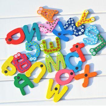 Холодильник магниты магнитные дети образования игрушка детские детские игрушки обучения холодильник магнит головоломки деревянные алфавит 26 письма
