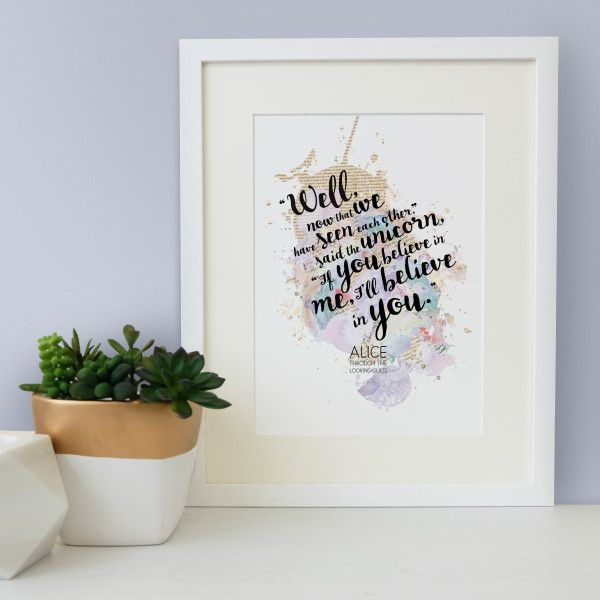 Alice In Wonderland Quote If You Believe In Me I Ll Believe In