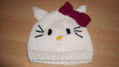 Hello Kitty Baby Hat Knitting Pattern : Gedc2145_medium baby hats free knitting patterns Pinterest Pattern libr...