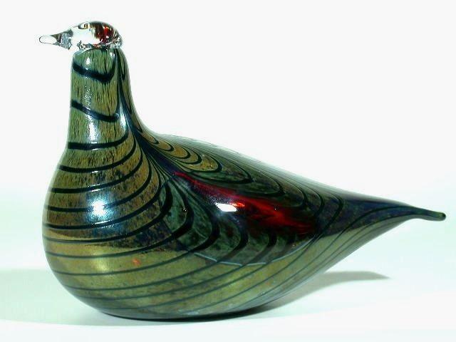 Oiva Toikka IITTALA Nuutajärvi Finnland Glas Figur ° Vogel ° finland art glass