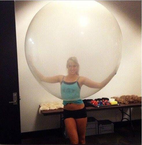 Jumbo Giant Luft Balloon, 3FT 90cm Round Clear Balloon, Huge Transparent Party Birthday Balloon