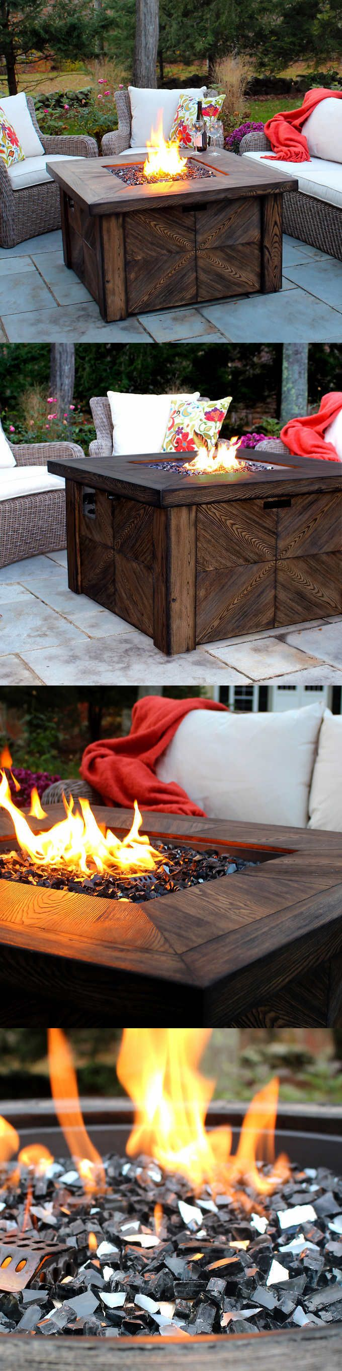 Fire Pits and Chimineas 85916: Fire Pit Table Propane Outdoor Backyard Patio Gas Heater Fireplace Deck Lp Cover -> BUY IT NOW ONLY: $559.99 on eBay!