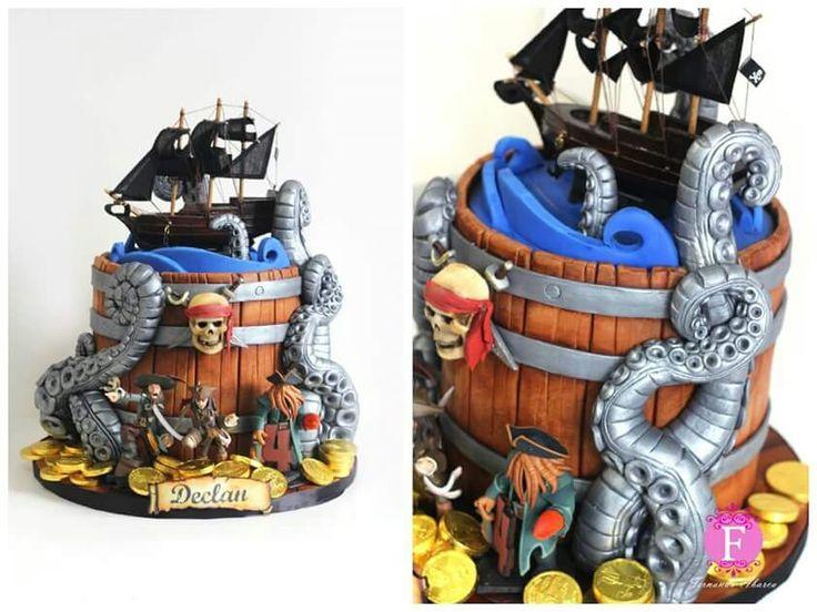 Pirates Of The Caribbean Cake Decoration Ideas Boys