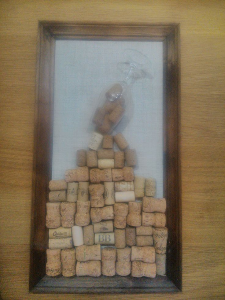darček z korkových štuplov