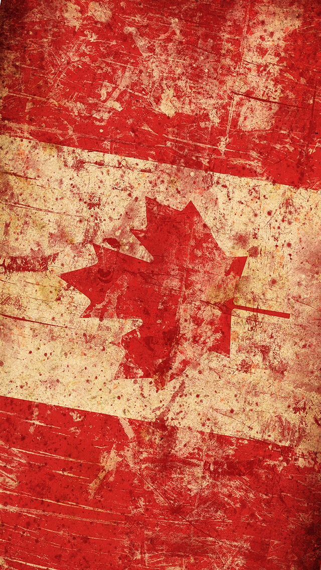 distressed canada flag