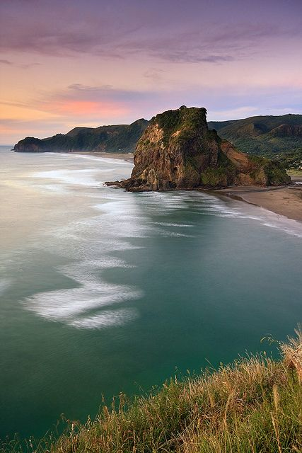 Lion Rock, Piha Beach, near Auckland, The North Island, New Zealand ♥ Seguici su www.reflex-mania.com