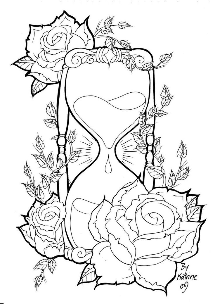 rose tattoo designs hourglass by koyasan on deviantart - Tattoo Design Ideas