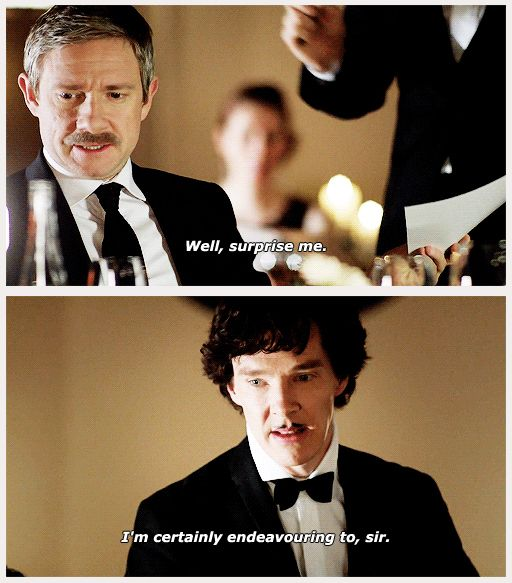 """""""The moment I realised Sherlock was so excited to see John he didn't notice the ring box or 'man whose about to propose' clues!!"""" -- ok, did not get this til now."""