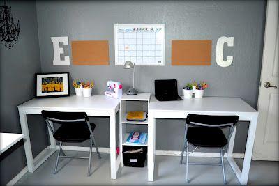 Kids' craft/homework station. My kids love their space!