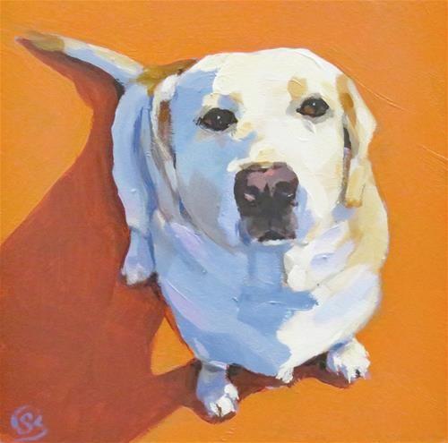 "Daily Paintworks - ""Good Dog"" - Original Fine Art for Sale - © Shari Buelt"