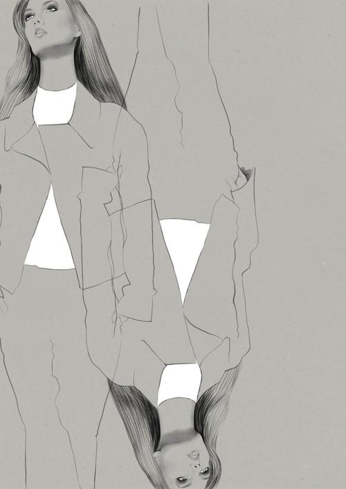 Fashion illustration - contemporary fashion drawing // Judith van den Hoek