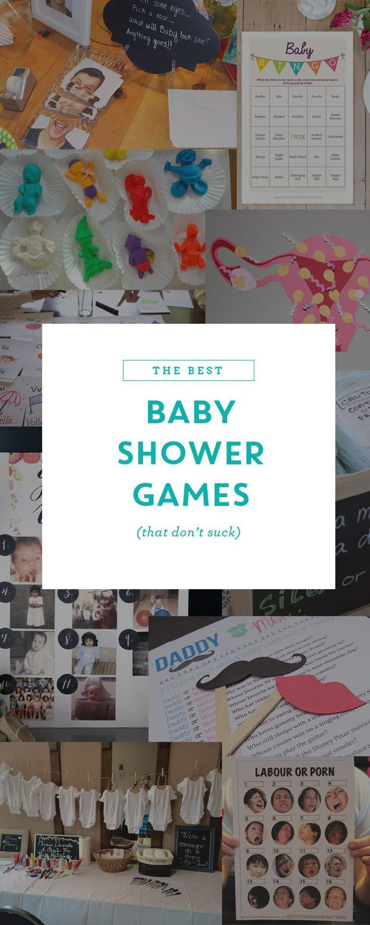 Here are some unique and hilarious baby shower games that are fun for everyone – including options for co-ed and large groups. Free printables too!