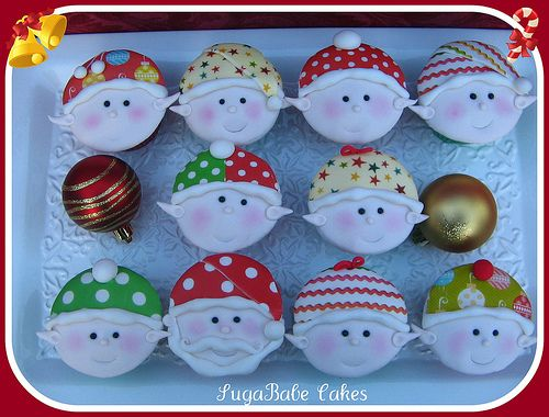 Santa's Elves Cupcakes