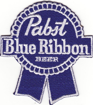 Pabst Blue Ribbon Beer Embroidered Iron on Patch New | eBay