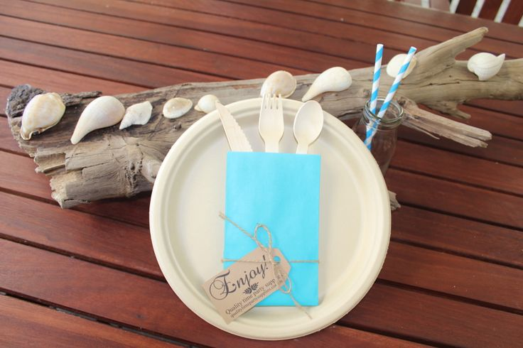 Eco sugarcane pulp plates with wooden cutlery