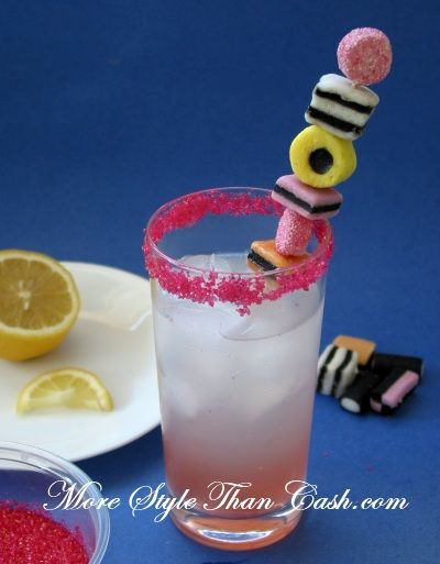 Sweeten Up Your Cocktail - Fun Candy Garnish Idea! Perfect with anything licorice flavored!
