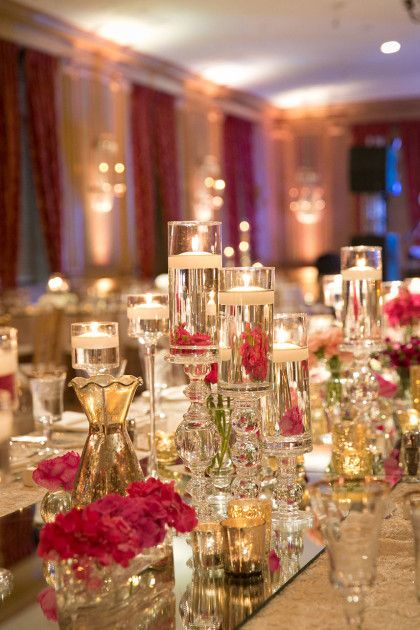 These centerpieces from Lush Couture Floral are captivating in Laure and Greg's elegant Fort Worth Ballroom Wedding. Captured by Tracy Autem Photography. #bridesofnorthtx #weddings #centerpieces