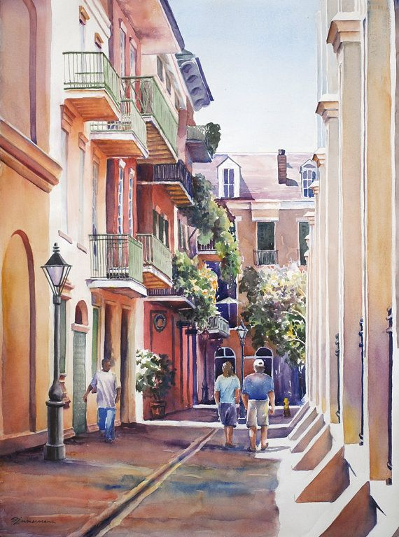 11 Best Watercolor House Portraits Images On Pinterest New Orleans French Quarter Water