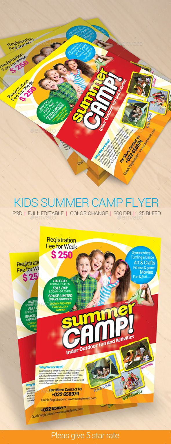 best images about summer camp marketing ideas kids summer camp flyer