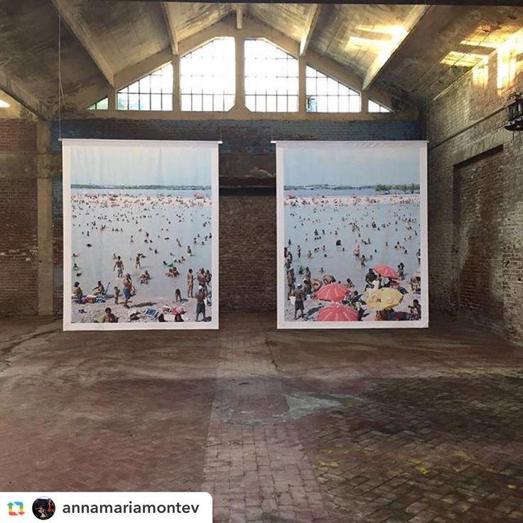 Repost @annamariamontev Piscinao de Ramos diptych, 2012 - #massimovitali #installation #Nova #CantieriCreativi #ExCeramicheVaccari #SantoStefanoMagra