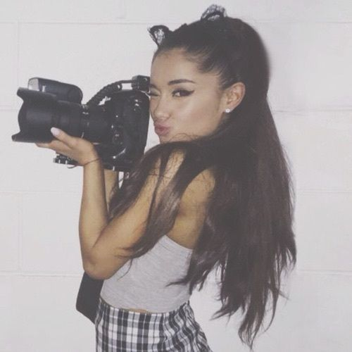 "::Ariana Grande::""hiya! I'm Ariana, but everyone calls me Ari""I smile""I'm 17 and single, but looking for the right guy. I'm a singer, actress, and model. I love shopping, traveling, and Starbucks. I'm very bubbly and flirty""I wink""that's it about me, come say hi?"""
