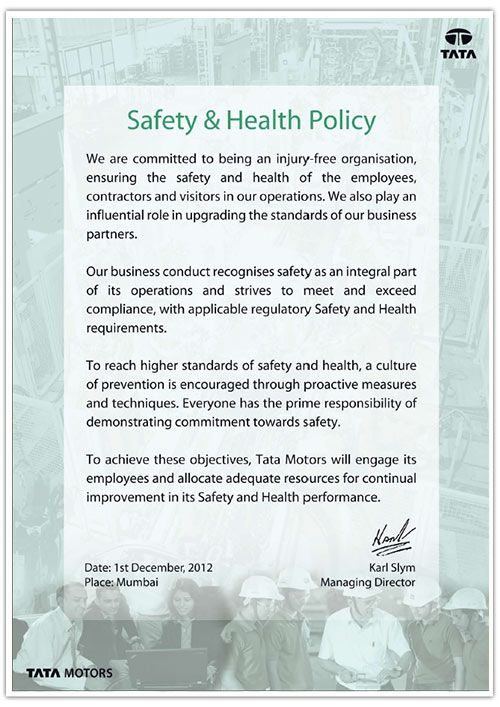 Image result for health and safety policy templates for companies