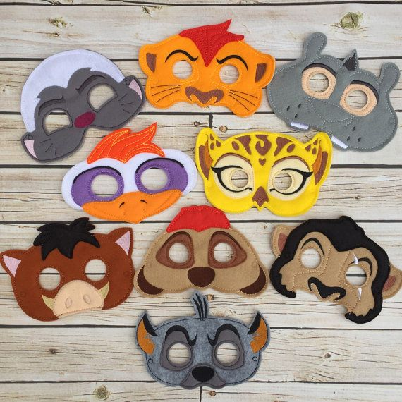 Lion Guard inspired masks by ajoyfulbow on Etsy