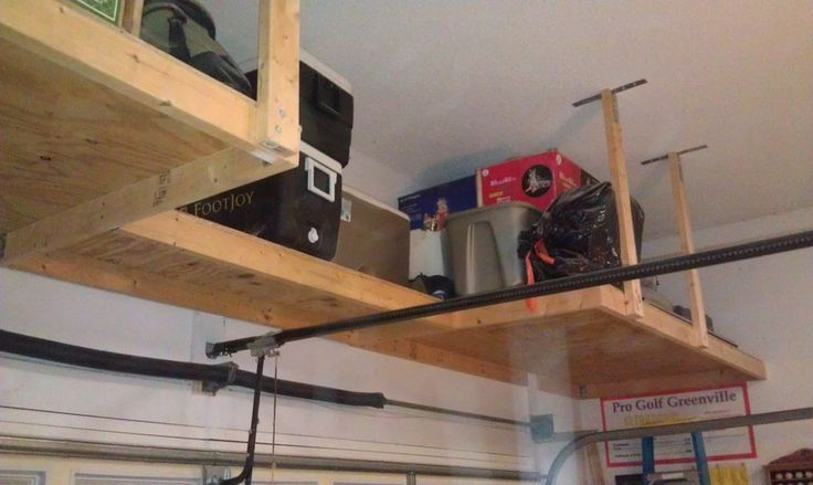 over garage door shelf | Above garage door storage