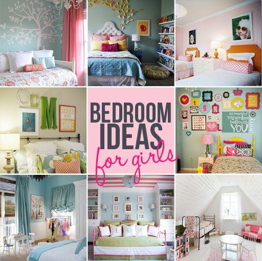 Cute Bedroom Sharing Idea W/ The Pics...cute Decor (top Middle