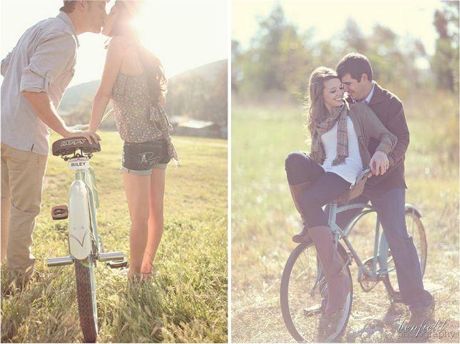 vintage bikes for engagement photos