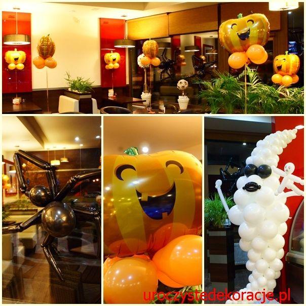 dekoracje z balonów na halloween