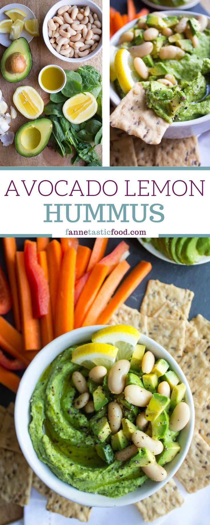 Avocado Lemon Hummus - a flavorful twist on hummus that packs in veggies and healthy fat!   hummus recipe   avocado hummus recipe   easy hummus recipe   vegan snack ideas  