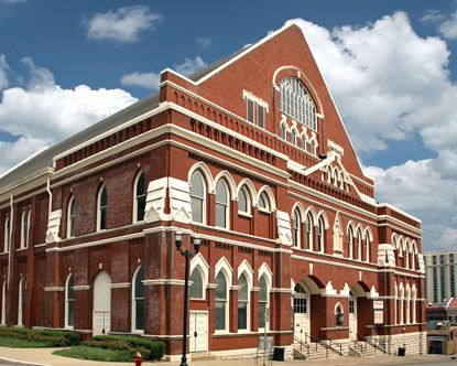 Ryman Auditorium, the original Grand Ol' Opry. It was hot as hell and we had cardboard fans on sticks. It was so much fun!