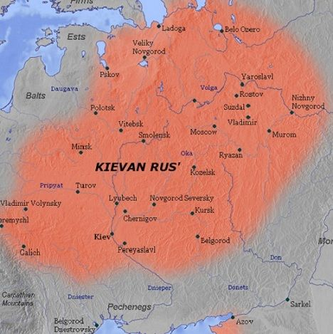 Kievan Rus is the name of the empire formed by a group of Scandinavian vikings. There were three brothers who ruled it until two died and the oldest, Rurik, was left in charge. Their economy was based on trade, especially with Constantinople and their homeland. The kingdom was not on good relations with several groups, such as the Byzantium and the Turco Mongols. All in all the empire of Kievan Rus' was the largest European state in terms of size and in cultural advancement.