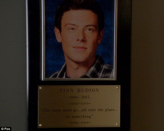 """My senior year quote! """"The show must go... all over the place or something"""" - Cory Monteith (As Finn Hudson)  #ripcory #rememberingcory"""