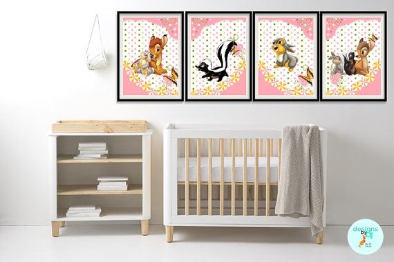 SALE  // HALF Price - till END of November //  BAMBI Nursery Art by DesignsByDjKidsArt