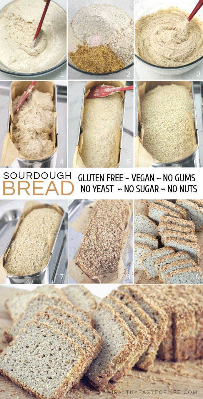 Gluten Free Sourdough Bread Recipe Vegan Whole Grain Recipe Yeast Free Breads Gluten Free Sourdough Sugar Free Bread