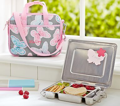 Mackenzie Gray Butterfly All-in-One Lunch Bag #pbkids