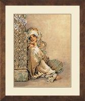 Broderipakning - Arabisk kvinde.Denne har jeg også brodert på bestilling.