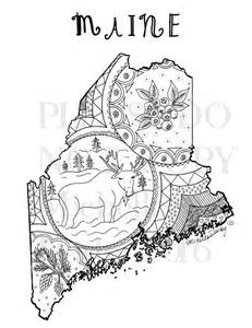 Image result for Map of Maine Coloring Page (With images