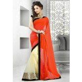 valehri-orange-and-cream-designer-half-half-saree