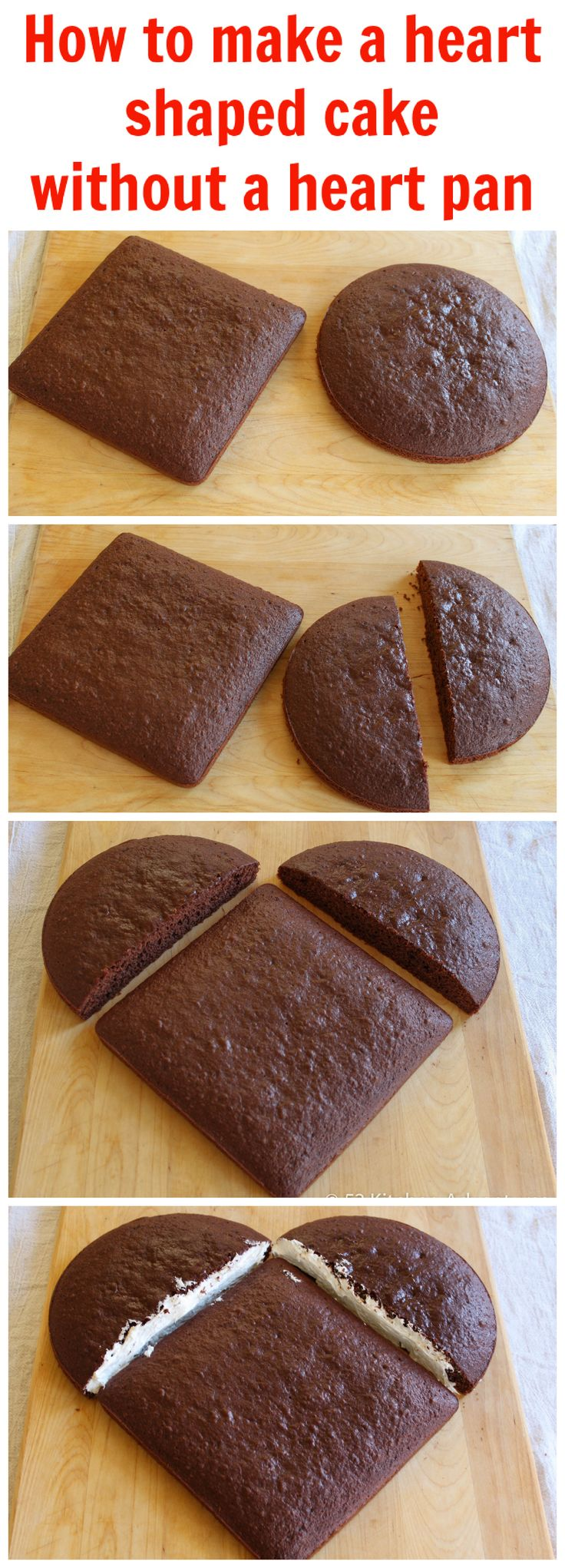 Steps-how to make a heart shaped cake without a cake pan