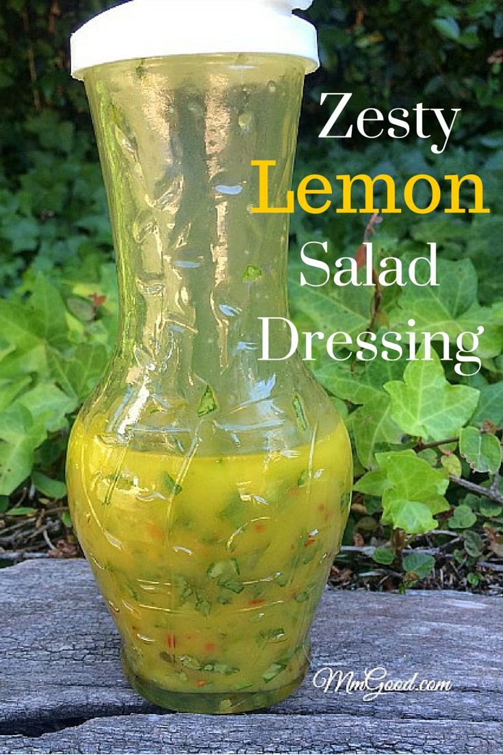 My zesty lemon salad dressing is perfect for the summer months. It's the perfect blend of herbs, to lemon, oil and compliments arugula. This is one of my most favorite recipes I make and I know you will love it too | MmGood.com