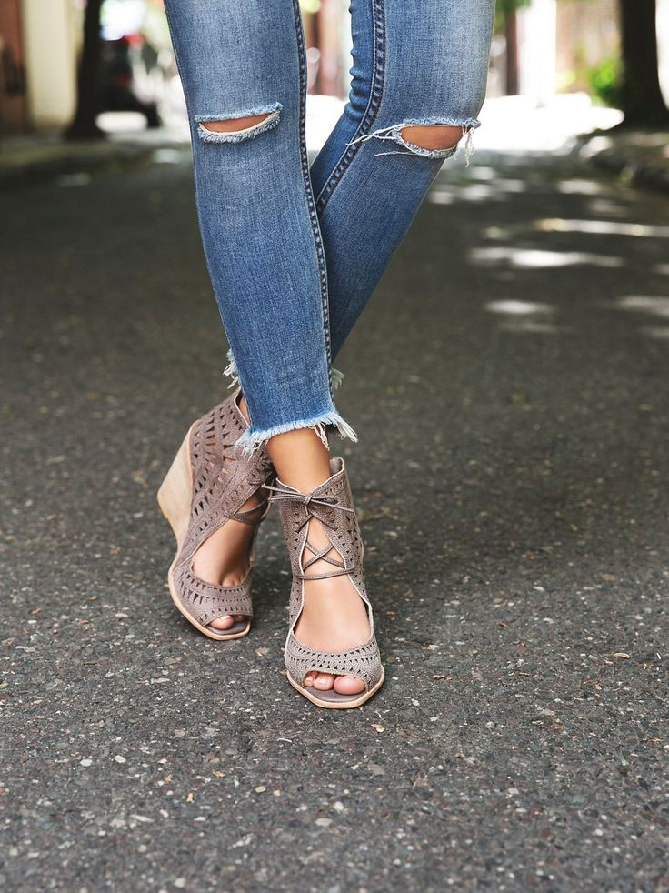 Dark Grey Serena Wedge at Free People Clothing Boutique