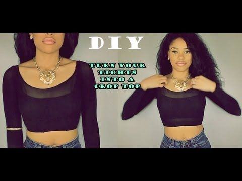 Turn old tights into crop tops! Love this idea, I wish I discovered it before summer was over. #DYI #Summer #CropTop