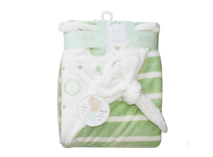 Piccolo Filt med knut, grön/vit - Bonti