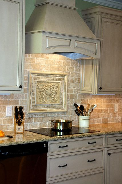 tumbled travertine backsplash ideas kitchen remodel after a photo